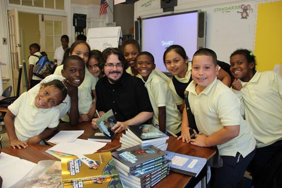 Dave Roman school visit