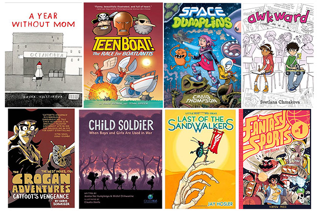 Middle Grade graphic novels 2015
