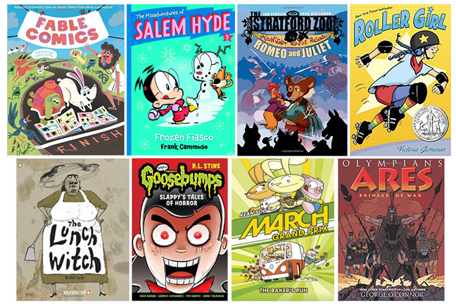 Kids Comics Elementary Graphic Novels 2015
