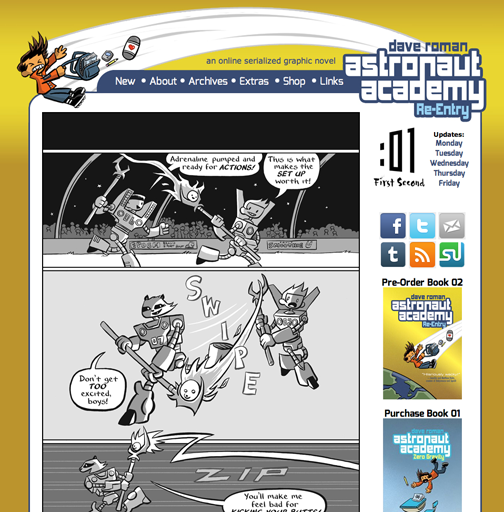 Astronaut Academy webcomic ends