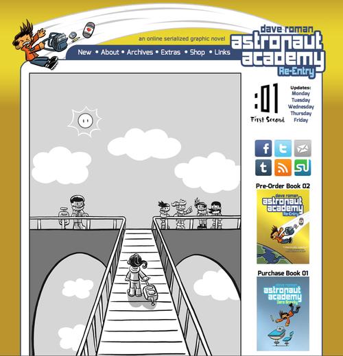 Astronaut Academy web comic