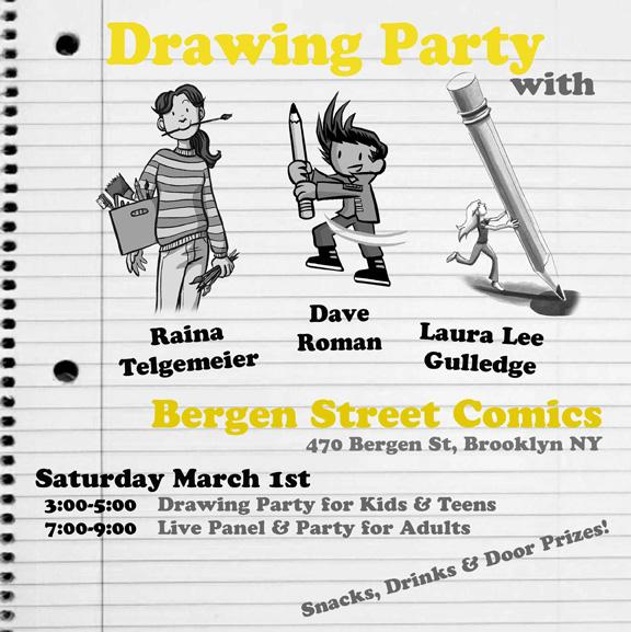 Bergen Street Drawing Party