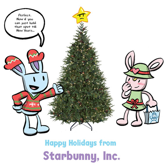 Starbunny Christmas Card