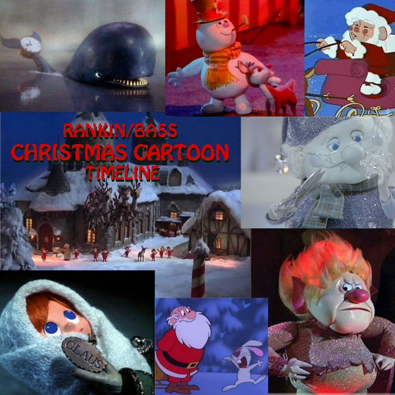 Christmas Cartoon Collage