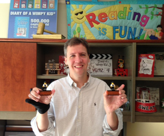 Jeff Kinney with awards