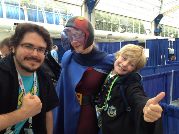Dave with cosplayers