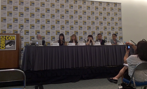 Cartoonists panel at SDCC