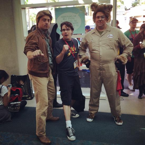 Lone Starr & Barf cosplay