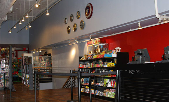 Forbidden Planet NYC interior