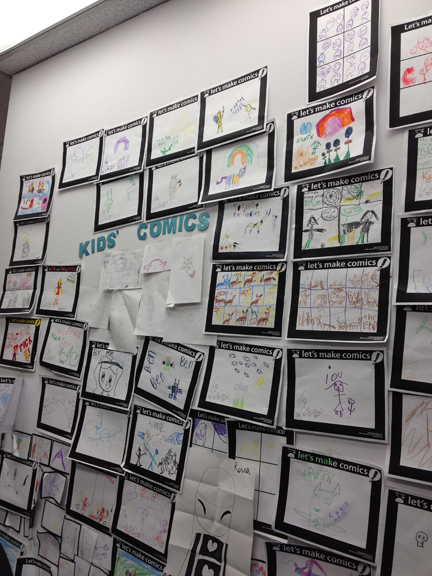 Little Island Comics kids wall