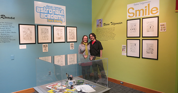 Raina Telgemeier and Dave Roman